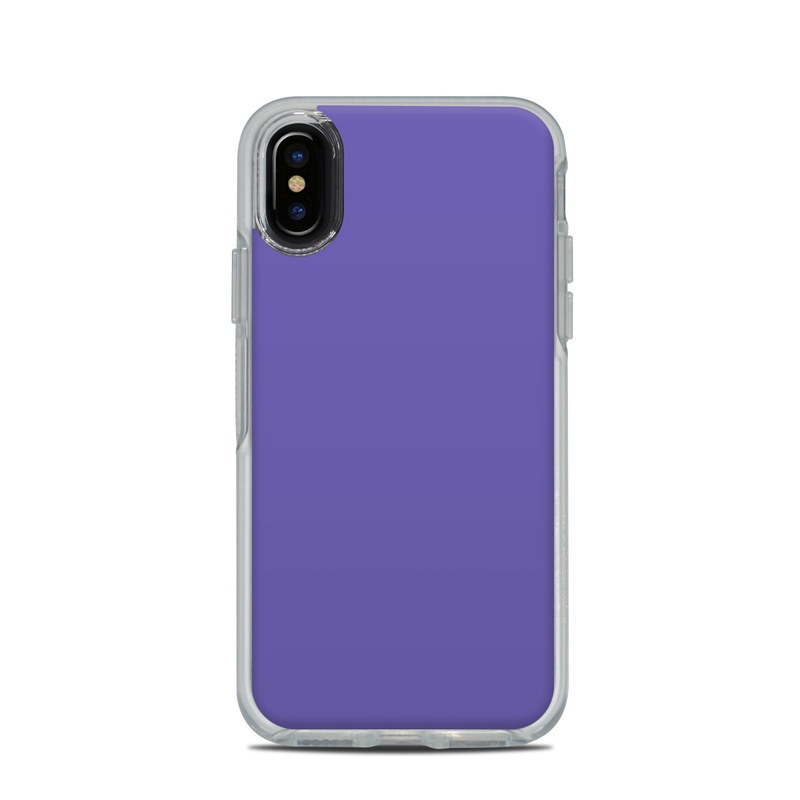 sale retailer c2f71 55779 OtterBox Symmetry Clear iPhone X Case Skin - Solid State Purple