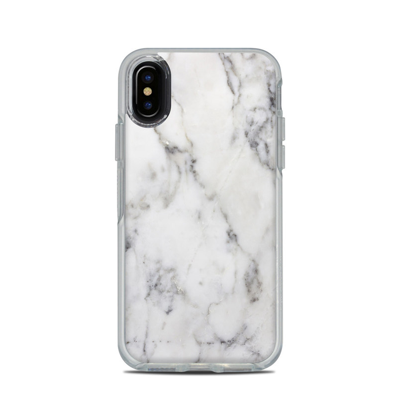 100% authentic 08037 f1078 OtterBox Symmetry Clear iPhone X Case Skin - White Marble