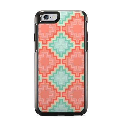 OtterBox Symmetry iPhone 6 Case Skin - Coral Diamond