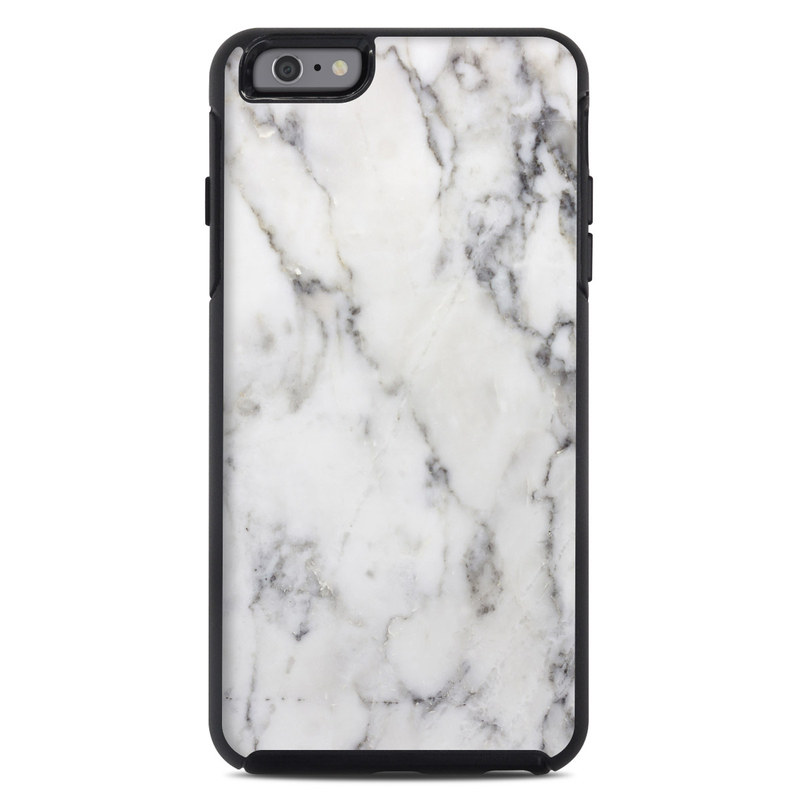 hot sale online 6c148 98a1f OtterBox Symmetry iPhone 6 Plus Case Skin - White Marble