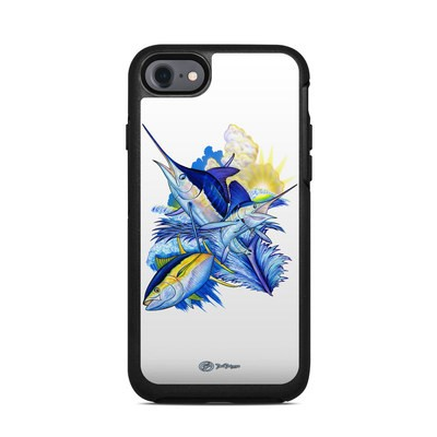 OtterBox Symmetry iPhone 7 Case Skin - Blue White and Yellow