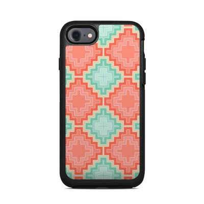 OtterBox Symmetry iPhone 7 Case Skin - Coral Diamond