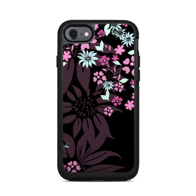 OtterBox Symmetry iPhone 7 Case Skin - Dark Flowers