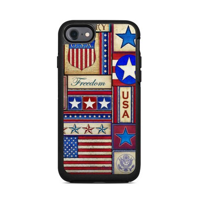 OtterBox Symmetry iPhone 7 Case Skin - Flag Patchwork