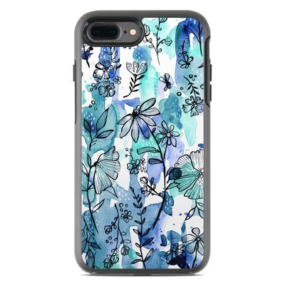 OtterBox Symmetry iPhone 7 Plus Case Skin - Blue Ink Floral