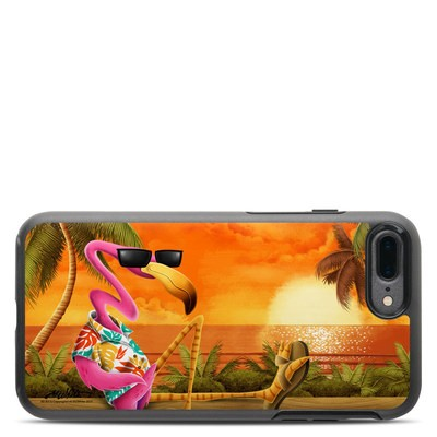 OtterBox Symmetry iPhone 7 Plus Case Skin - Sunset Flamingo