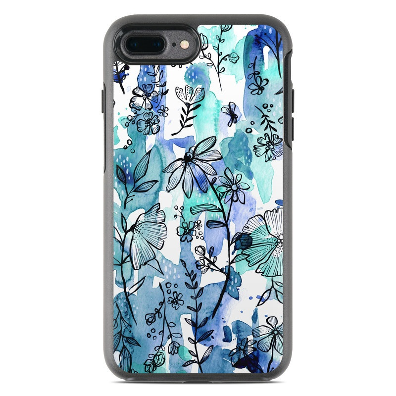 separation shoes f0541 58d65 OtterBox Symmetry iPhone 7 Plus Case Skin - Blue Ink Floral