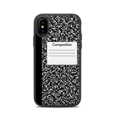 OtterBox Symmetry iPhone X Case Skin - Composition Notebook