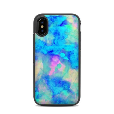 OtterBox Symmetry iPhone X Case Skin - Electrify Ice Blue