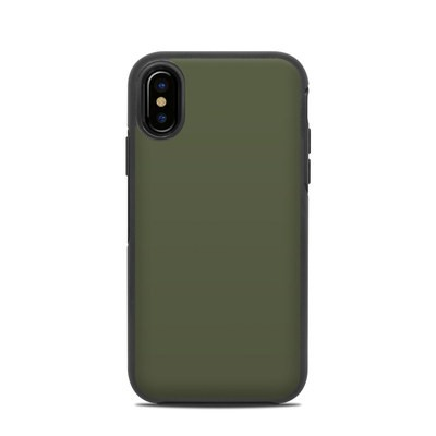 OtterBox Symmetry iPhone X Case Skin - Solid State Olive Drab