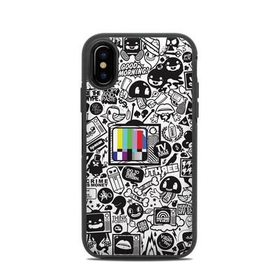 OtterBox Symmetry iPhone X Case Skin - TV Kills Everything