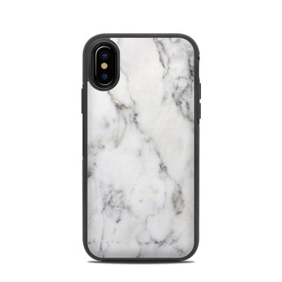 OtterBox Symmetry iPhone X Case Skin - White Marble