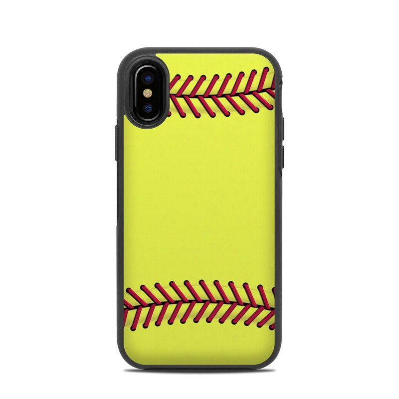 OtterBox Symmetry iPhone X Case Skin - Softball by Sports  6603528ae50d