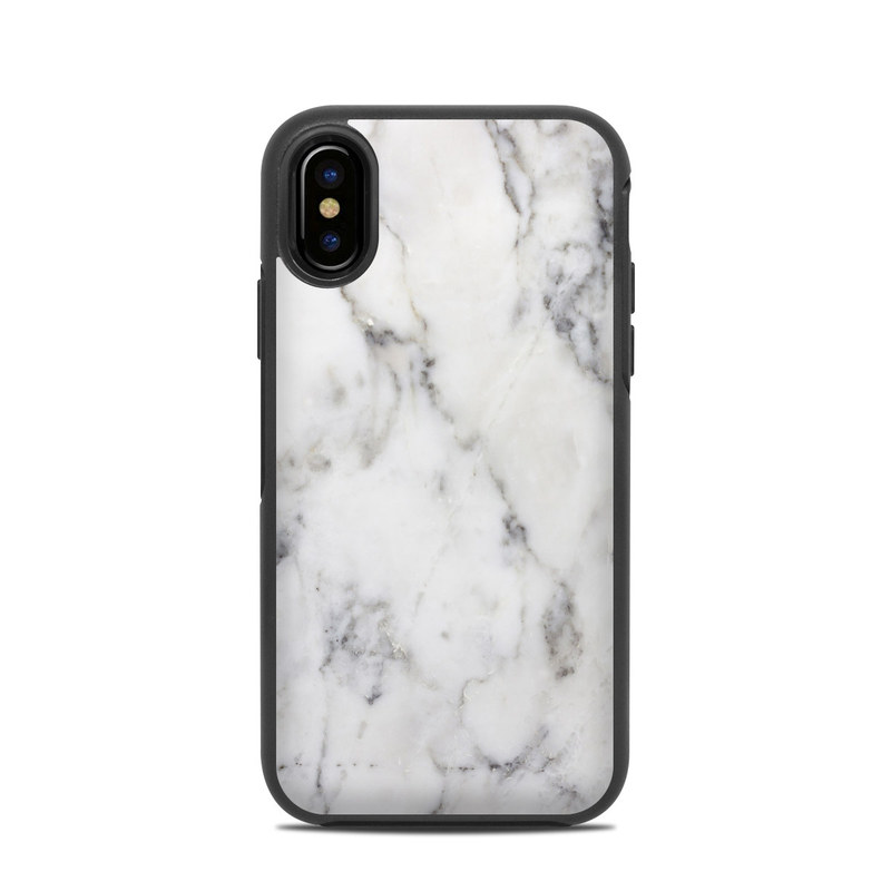 low priced b46ec 37dc9 OtterBox Symmetry iPhone X Case Skin - White Marble