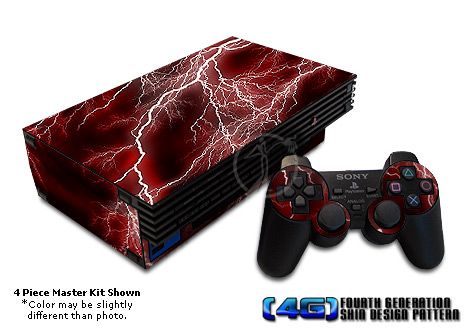 PS2 Skin - Apocalypse Red