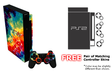 PS2 Skin - Tie-Dyed (01)