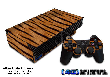 PS2 Skin - Tiger Fur