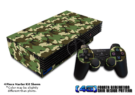 PS2 Skin - Woodland Camouflage