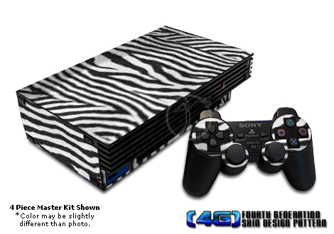 PS2 Skin - Zebra Stripes