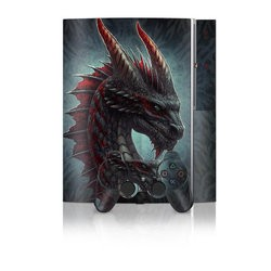 PS3 Skin - Black Dragon