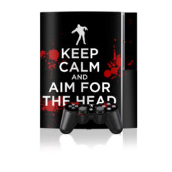 PS3 Skin - Keep Calm - Zombie