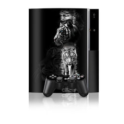 PS3 Skin - White Tiger