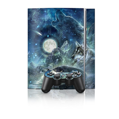 PS3 Skin - Bark At The Moon