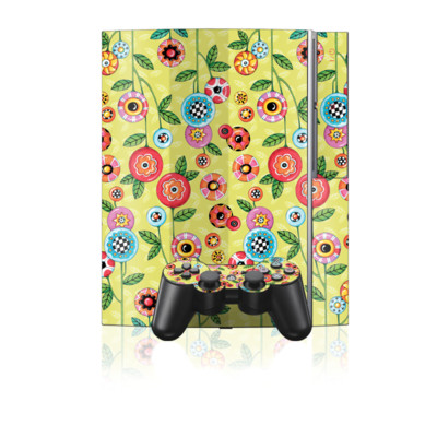 PS3 Skin - Button Flowers