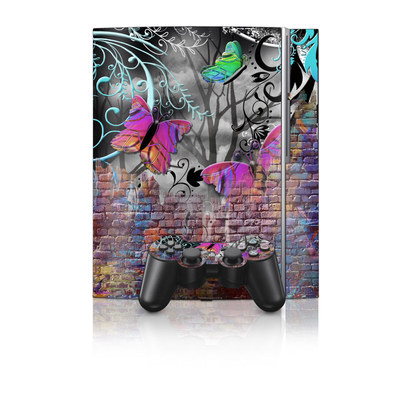 PS3 Skin - Butterfly Wall