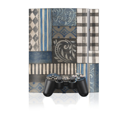 PS3 Skin - Country Chic Blue