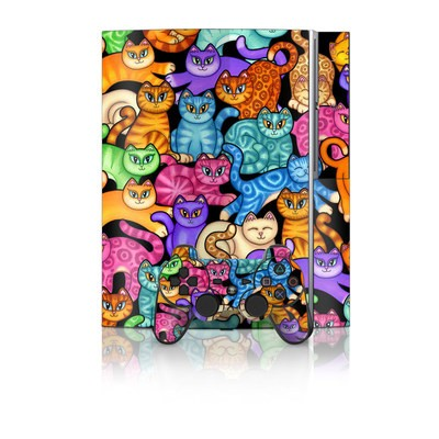 PS3 Skin - Colorful Kittens