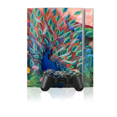 PS3 Skin - Coral Peacock