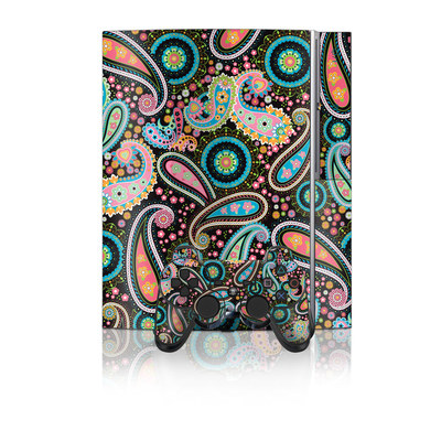 PS3 Skin - Crazy Daisy Paisley