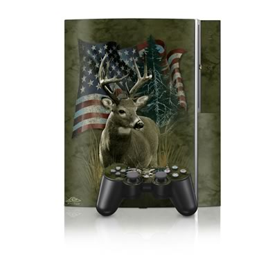 PS3 Skin - Deer Flag
