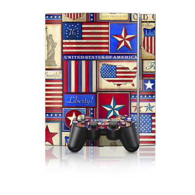 PS3 Skin - Flag Patchwork