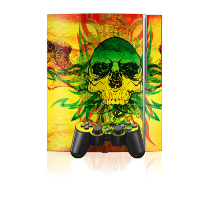 PS3 Skin - Hot Tribal Skull