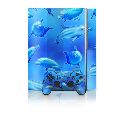 PS3 Skin - Swimming Dolphins