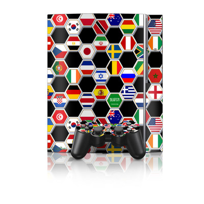 PS3 Skin - Soccer Flags