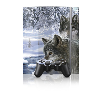 PS3 Skin - Snow Wolves