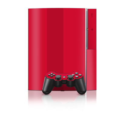 PS3 Skin - Solid State Red