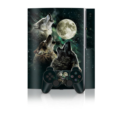 PS3 Skin - Three Wolf Moon