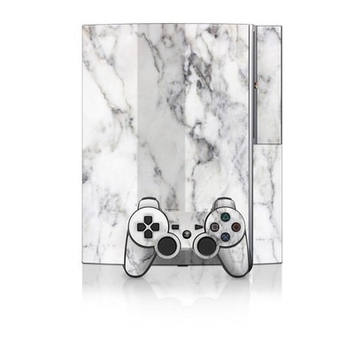 PS3 Skin - White Marble