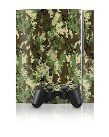 PS3 Skin - Digital Woodland Camo