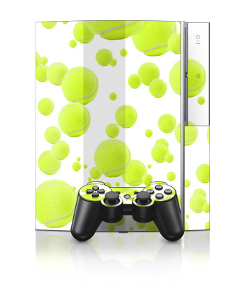 PS3 Skin - Lots of Tennis Balls
