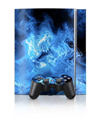 PS3 Skin - Blue Quantum Waves