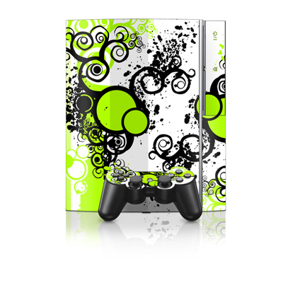 PS3 Skin - Simply Green