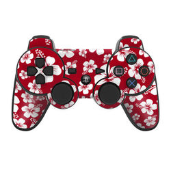 PS3 Controller Skin - Aloha Red