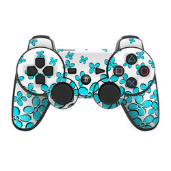 PS3 Controller Skin - Daisy Field - Teal