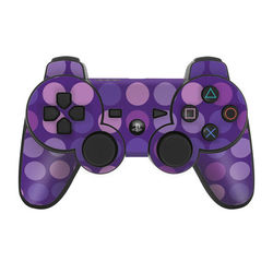 PS3 Controller Skin - Big Dots Purple