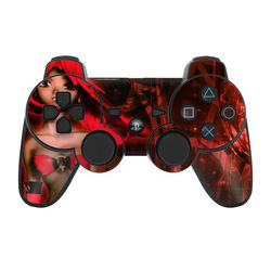 PS3 Controller Skin - Ghost Red